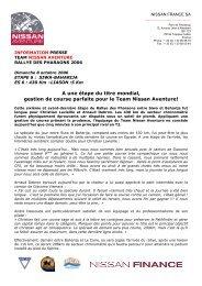 A une étape du titre mondial, gestion de course ... - Nissan Dessoude