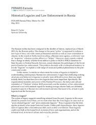 Historical Legacies and Law Enforcement in ... - PONARS Eurasia