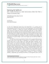 Spinning the Spillover - PONARS Eurasia