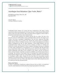 Azerbaijan-Iran Relations: Quo Vadis, Baku? - PONARS Eurasia