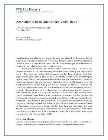 Iran azerbaijan relations pdf download