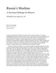 Russia's Muslims - PONARS Eurasia