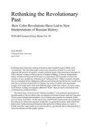 Rethinking the Revolutionary Past - PONARS Eurasia