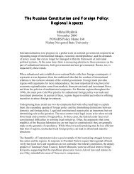 The Russian Constitution and Foreign Policy - PONARS Eurasia