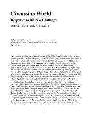 Circassian World Responses To The New ... - PONARS Eurasia