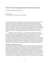 The Terrorism-Corruption Nexus in the North Caucasus