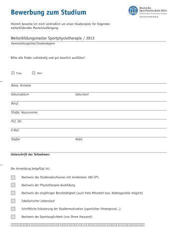 Information Zu Studium Und Bewerbung Bachelor (Pdf: 64Kb)