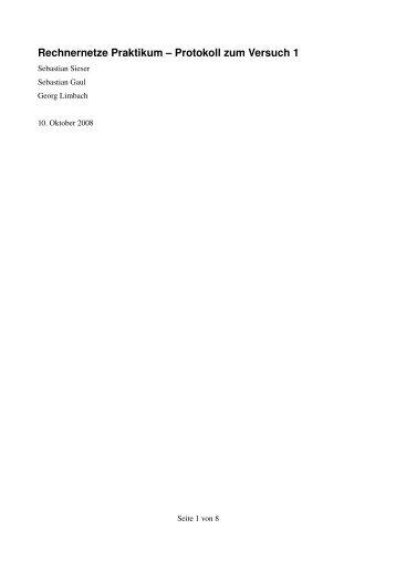 Rechnernetze Praktikum – Protokoll zum Versuch 1 - georf.de