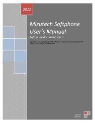 User guide - Mizu Voip