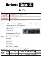 Car DVD QUOTATION 1229 - Nordgrensales