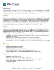 Bid Modeling Challenge Solution Advantages Benefits - SpaceClaim