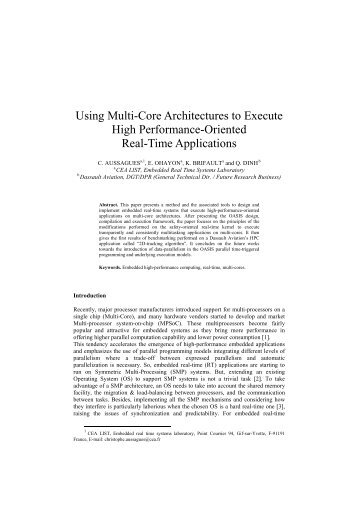 Using Multi-Core Architectures to Execute High Performance ...