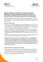 Empfehlungen der Allianz für Gebäude-Energie ... - Über die geea