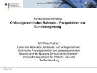Ordnungsrechtlicher Rahmen – Perspektiven der ... - Über die geea