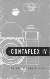 Contaflex IV Instruction Manual - Hkael.com