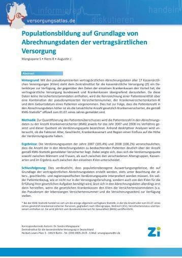 Populationsbildung auf Grundlage von Abrechnungsdaten der ...