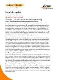 Vorlage Pressemitteilung Zukunft Haus - Über die geea