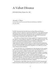 A Velvet Divorce - PONARS Eurasia