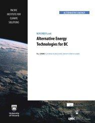 Alternative Energy Technologies for BC (Nov. 2008) by R.L. Evans ...