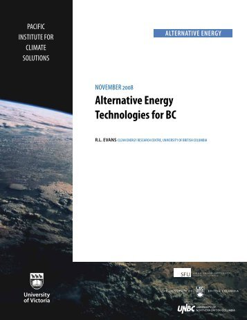 Alternative Energy Technologies for BC (Nov. 2008) by R.L. Evans ...