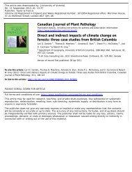 three case studies from British Columbia - Pacific Institute for ...