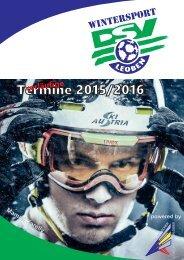 vorläufige Termine 2015/2016