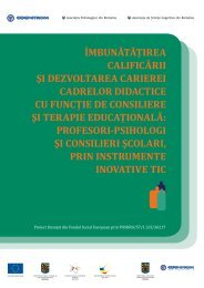 4. Îmbunătăţirea calificării şi dezvoltarea carierei psihologilor şi ...