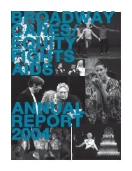 BC/EFA Annual Report 2004 - Broadway Cares/Equity Fights AIDS