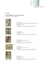 Albrecht DÜRER – Genie Marke Vorbild - Galerie Stihl Waiblingen