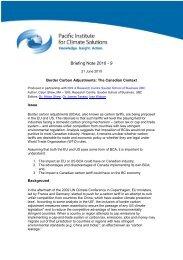 Border carbon adjustments: the Canadian context (21 June 2010)