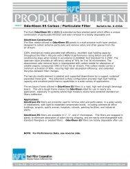 OdorKleen ES Carbon /Particulate Filter Bulletin No - Koch Filter ...