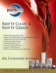 puraDYN Oil Filtration Systems