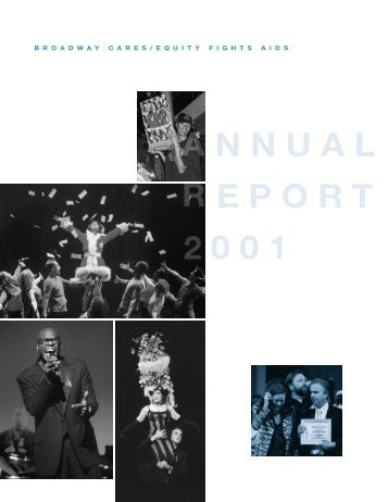 Annual Report 2001 - Broadway Cares/Equity Fights AIDS