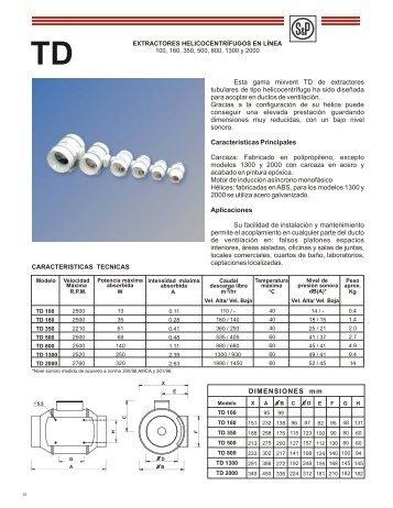 Esta gama mixvent TD de extractores tubulares de tipo ...