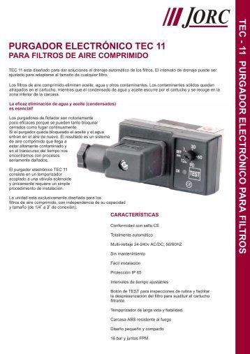 Pugador TEC11 para filtros - remco srl