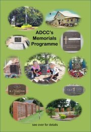 ADCC's Memorials Programme - ANZAC Day Commemoration ...