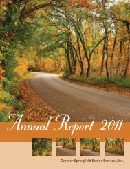 Annual Report 2011 - Greater Springfield Senior Services