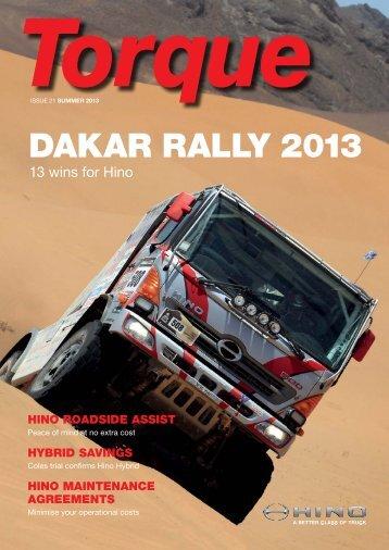 DAKAR RALLY 2013 - Hino