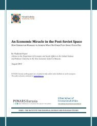 An Economic Miracle in the Post-Soviet Space - PONARS Eurasia