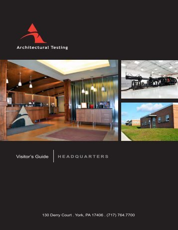 Visitor's Guide - Architectural Testing