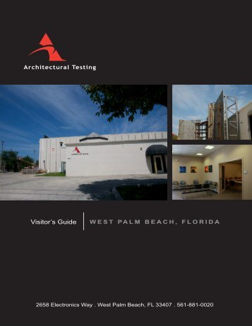 Visitor's Guide WEST PALM BEACH, FLORIDA - Architectural Testing