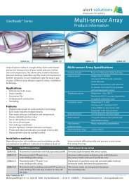 Specs sheet GeoBeads Multi-sensor Array - Alert Solutions