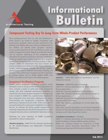 Component Testing Key To Long-Term Whole-Product Performance