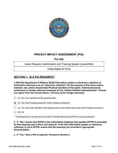 Leave Request, Authorization and Tracking System - Air Force