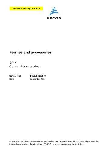 Ferrites and accessories, EP 7