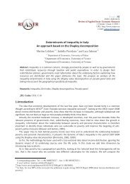 Determinants of inequality in Italy: An approach based on the ...
