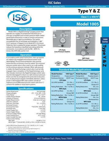 Type Y & Z Typ e Y & Z - ISC Enclosure Cooling
