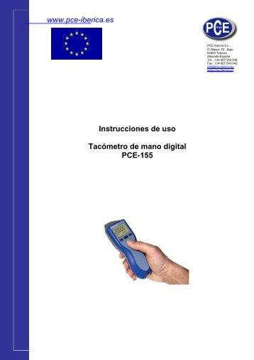ica.es Instrucciones de uso Tacómetro de mano digital ... - PCE Ibérica