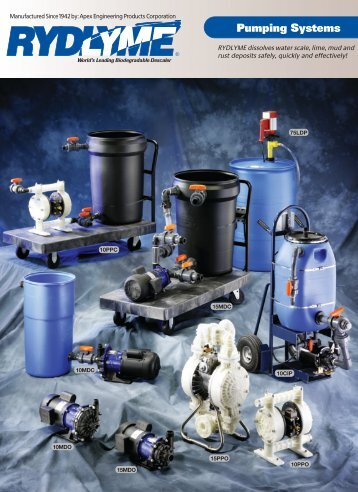 rydlyme pumping systems - Apex Engineering Products Corporation