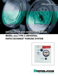 Model 1012 Type Z Universal Rapid Exchange Purging System